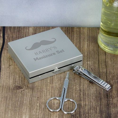 Personalised Moustache Manicure Set